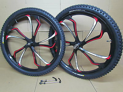 "27.5"" 650B MTB Mountain Bike Magnesium Alloy 8/9/10 Speed Wheel Set Kenda Tyres"
