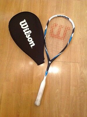 Wilsons Adult Squash Racket With Case Used Good Condition Dirty Grip