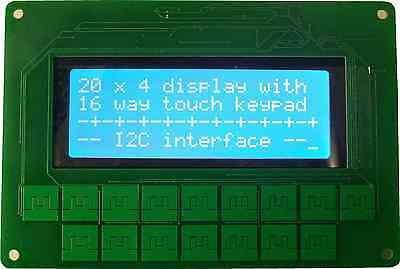 I2C Keypad Front Panel for Arduino, Raspberry Pi, 20x4 LCD and 16 keypad
