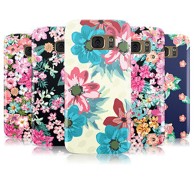Dyefor Flower Print Floral Pattern Mobile Phone Case Cover For Samsung Galaxy S7