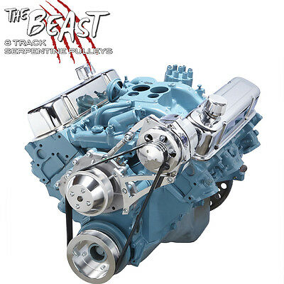 Pontiac Serpentine Conversion Kit Alternator 350 400 428 455 Billet Aluminum