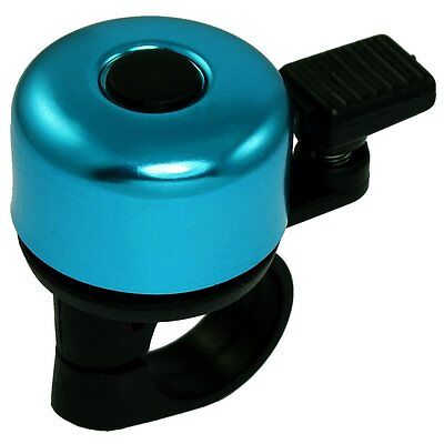Black Plastic Bike Handlebar Clamp Blue Round Top Bicycle Bell Ring AD
