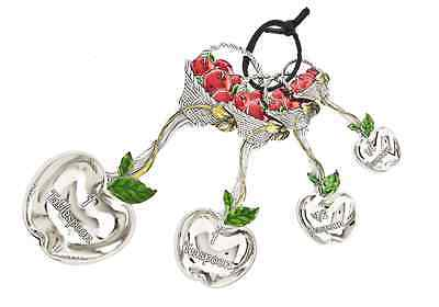Ganz 4-Piece Measuring Spoons Set, Basket of Apples - Collectible