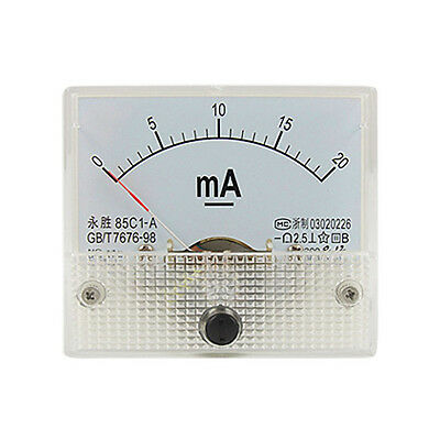 0-20mA Analog DC Current Panel Meter Ammeter 85C1-A AD