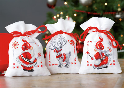 Vervaco Pot-Pourri Bag Christmas Elves Cross Stitch Kit
