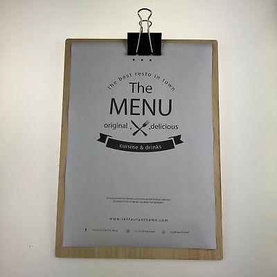 Menu Boards Birch Plywood Wooden Wood Restaurant Menus