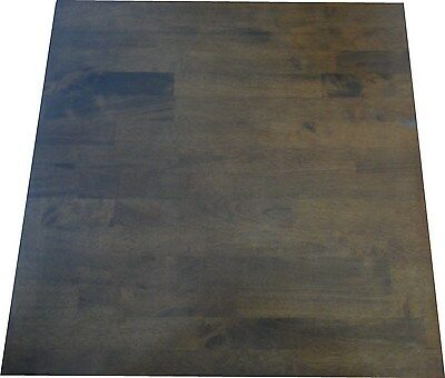 Solid Timber Restaurant Cafe Table Top 60x60cm Dark Tan Color - indoor use