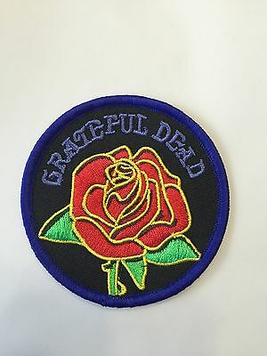 Grateful Dead Rose Embroidered Patch Iron on or Sew on