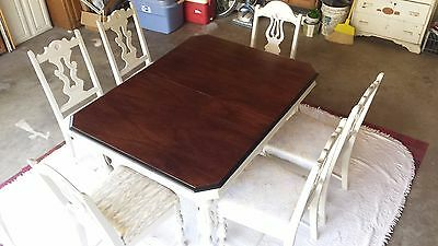 Antique 1920s Blue Bird Furniture Mfg. Co. Dining Set with 6 Chairs
