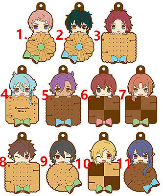 Ensemble Stars ES Game Rubber Strap Keychain Charm Earphone Winding Biscuit Vol2