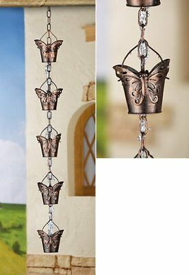 @@ Decorative Butterfly Iron Rain Chain Perfect Getset2save New