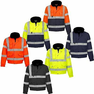 Hi Viz Vis Visibilty Two Town Bomber Contractor Security Jacket