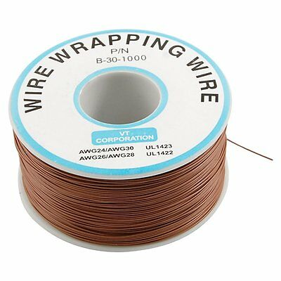 Brown PVC Coated Tin Plated Copper Cable Wrapping Wire 305M 30AWG Cable Reel AD
