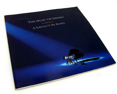 Vintage The Music of Disney A Legacy In Song Softcover Collector's Book 1992