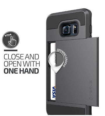 Hybrid Rugged Card Hard Back Case Cover Wallet For Samsung Galaxy S6 S7 Note 4 5