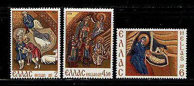 GRECIA/GREECE 1970 MNH SC.1002/1004 Christmas Mosaics