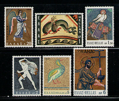 GRECIA/GREECE 1970 MNH SC.966/971 Greek Mosaics
