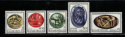 GRECIA/GREECE 1976 MNH SC.1176/1180 Engraved Seals