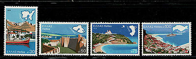 GRECIA/GREECE 1976 MNH SC.1187/1190 Greek Aegean Islands