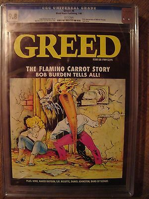 Greed #6 CGC 9.8 1st app & Intro Milk & Cheese ONLY 9.8 on Census Flaming Carrot