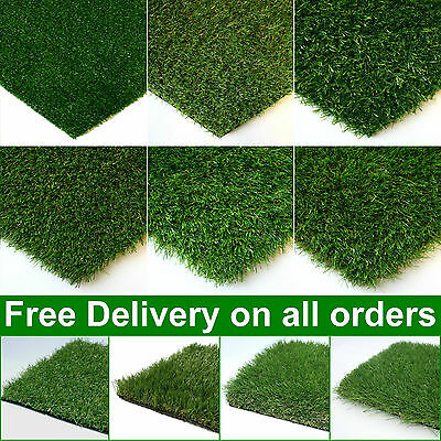 CLEARANCE Artificial Grass Astro Turf Lawn Realistic Green Fake Grass New Garden