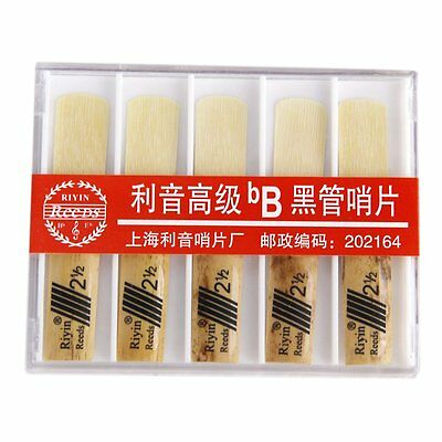 RIYIN 10 Pcs bB Clarinet Reeds Strength 2.5 AD