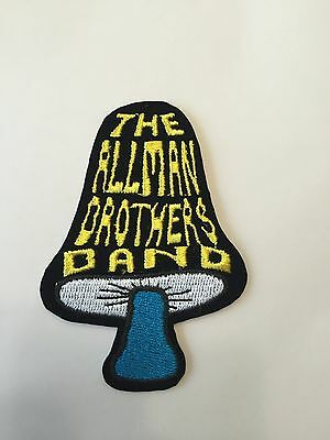 Allman Brothers Band Mushroom Embroidered Patch Iron on or Sew on