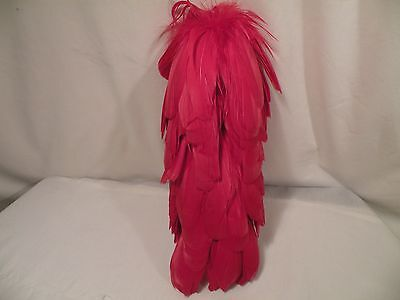 """10"""" Red Feather Hackle Plume For Band Uniform/cheerleading Hat, NEW. BUY 5 GET 6"""