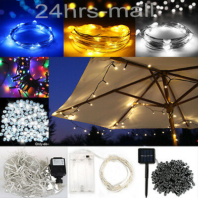 2M-100M Battery String Fairy Lights LED Indoor Outdoor Party Xmas Lights