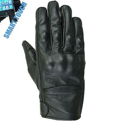 Gants En Cuir Moto, Sports, Motard, Protection, Chopper, Gants Homme