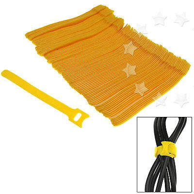100PCS Reusable velcro Cord Adjustable Cable Tidy Strap Ties Tidy Wrap Hook&Loop