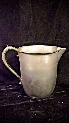 Pewter Pitcher, Sheets Rockford Co 1875 #470