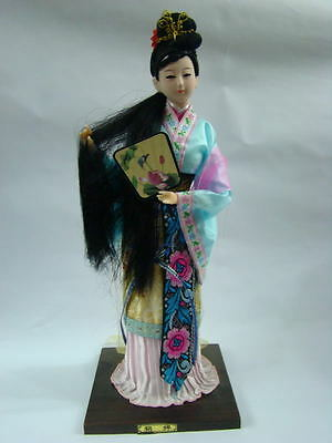 Beautiful Oriental Broider Doll,Chinese Old style doll geisha woman with fan