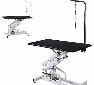 Pet&Dog Professional Grooming Bath Table Z-Lift Hydraulic Folding With Arm&Leash