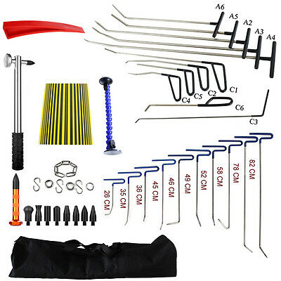 33pcs PDR Auto Body Rods Paintless Dent Repair Kits Tools Hail Ding Removal Hook