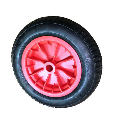 """1x 14"""" Wheelbarrow Wheel Pneumatic Inflatable Tyre 3.50-8 REPLACEMENT RED S247"""