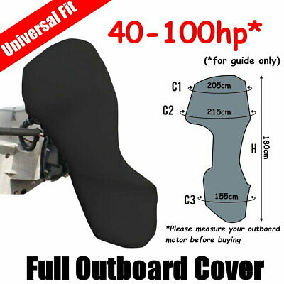 100-150hp Full Outboard Boat Motor Engine Cover Dust Rain Protection Black
