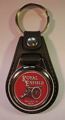 Royal Enfield Faux Leather Key Ring / Key Fob.classic Royal Enfield Motorcycles.