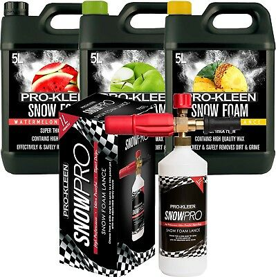 Pro-Kleen Snow Foam Triple Pack With Wax With Pro Kleen Pressure Washer Lance