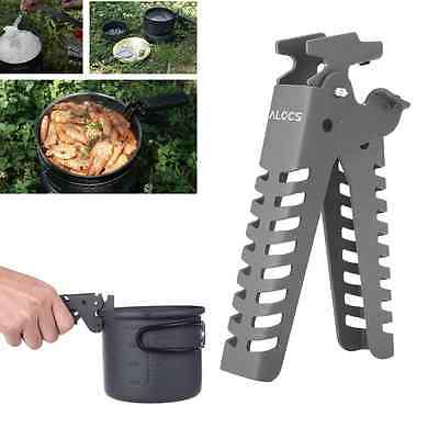 Camping Pot Pan Bowl Gripper For Cookware Cooking Backpacking Picnic Handle Clip
