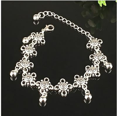 Summer Beach Tibetan Silver Daisy Chain with Dangle beads Anklet/Ankle 02