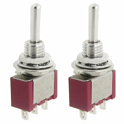 2 Pcs AC SPDT On/Off/On 3 Position Momentary Toggle Switch AC250V/2A/120V/5A AD