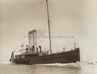 "PHOTOGRAPH OF PADDLE STEAMER "" SOLENT QUEEN""  by BEKEN of COWES"