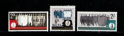 MALTA 1968 MNH SC.381/383 Human Rights