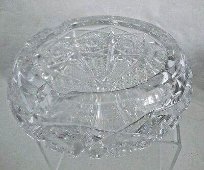 Cigar Holder Large Ashtray Hand Cut Lead Crystal