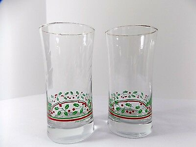 Vintage Arby's 1987 Christmas Collection Glasses Set of Two