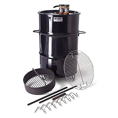 Barbecue Pit Barrel Outdoor Cooker Smoker Charcoal Grill Package Rubs Included