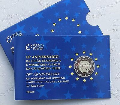 """2 Euro Portugal 2009 """"10 Jahre WWU"""" pp/proof in Coincard"""