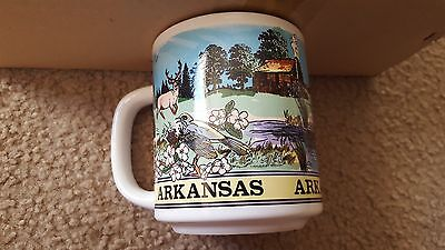 (6 qty) Arkansas Souvenir Ceramic Coffee Mugs Cups - Brand New!