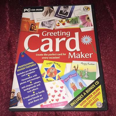Greetings Card Maker, PC CD-Rom.